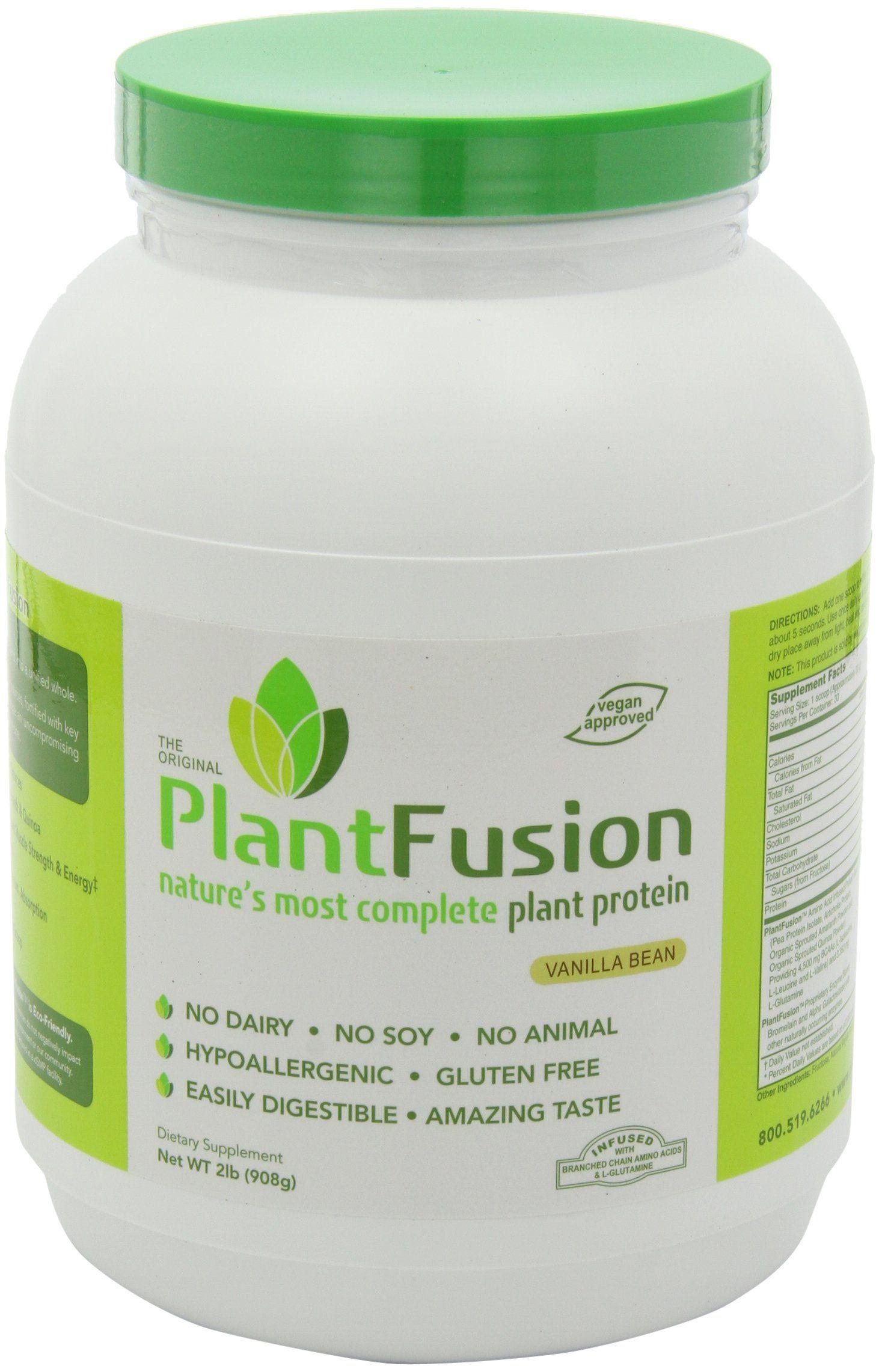 Amazon Com Plantfusion Protein Vanilla Bean 2lb Health Personal Care Pea Protein Powder Vegan Protein Powder Best Protein Powder