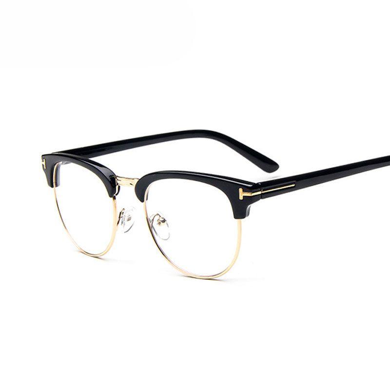 68cf4ac40 Barato Armações de Óculos armações de óculos de olho para As Mulheres de  Design da marca Homens Óculos Masculinos Espelho Senhoras Esportes Óculos  Simples ...
