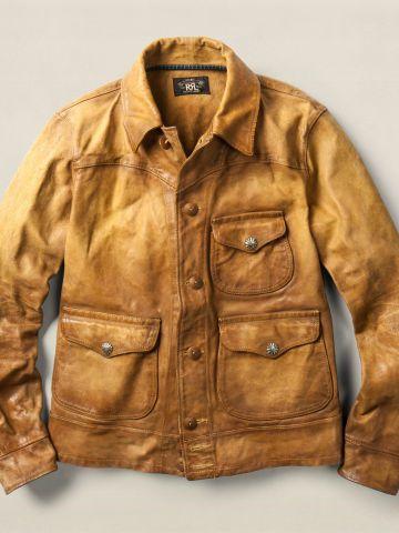 57181950d73ff Leather Griggs Jacket - RRL Leather   Suede - RalphLauren.com ...
