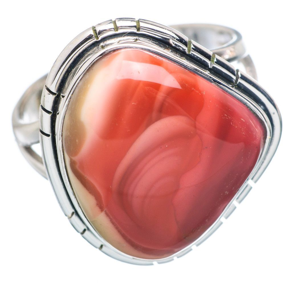 Rare Mookaite 925 Sterling Silver Ring Size 9.25 RING736126