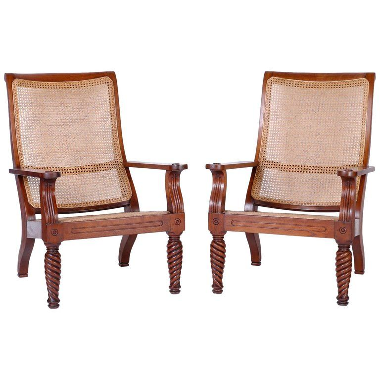 Miraculous Pair Of 1Stdibs Armchairs Antique Plantation Indian Anglo Gmtry Best Dining Table And Chair Ideas Images Gmtryco