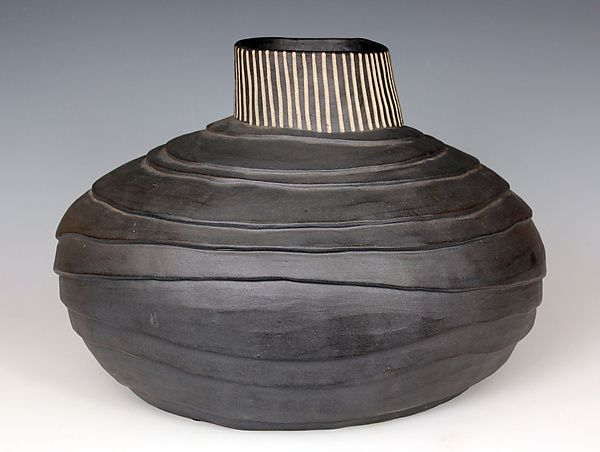 Layered Basket: Larry Halvorsen: Ceramic Vessel- STUDIO SALE | Artful Home