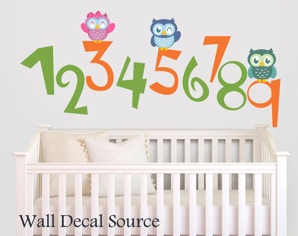 Number wall decals via etsy baby pinterest kids