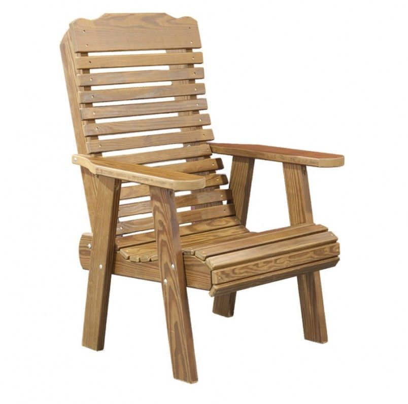Incroyable Rustic Style Wooden Lawn Arm Chair Design Idea
