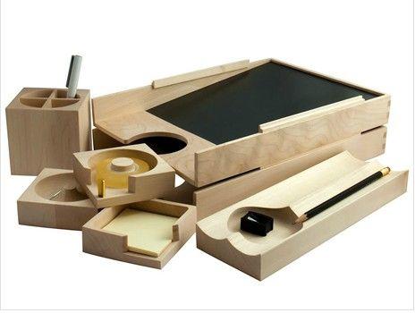 Scanwud & Knud Holscher maplewood desk accessories