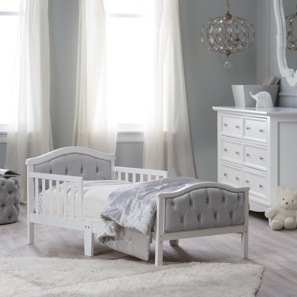 Toddler Princess Beds With Rails Frame For Girls Upholstered ...