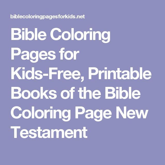 Bible Coloring Pages For Kids Free Printable Books Of The Page New