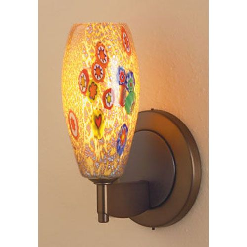 Ciro Mini Bronze One Light Ada Led Wall Sconce With Tan Mosaic Glass Led Wall Sconce Wall Sconces Sconces