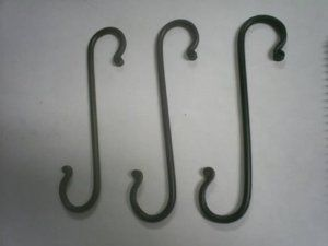 Wrought Iron Hook Large S Lot 3 Hand Made By Hand Crafted And Amish Made 12 95 This Is Our Versatile Large S H Wrought Iron Hooks Wrought Iron Handmade