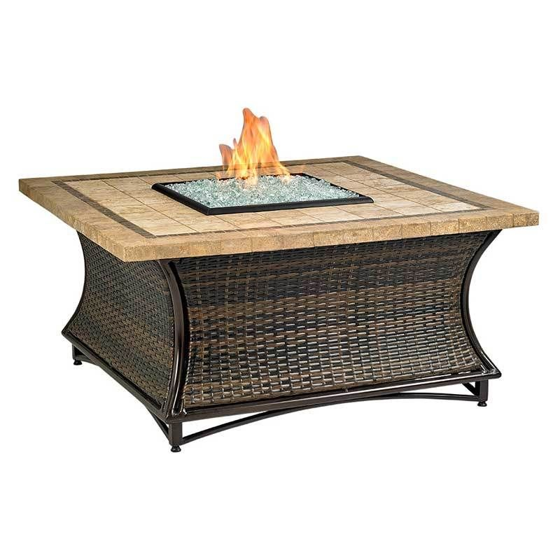 Santa Cruz Square Fire Pit W 48 Inch Capistrano Mosaic Top Square Fire Pit Fire Glass Mosaic