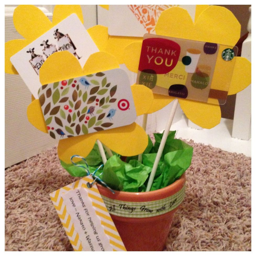 teacher gift even small amounts 5 per flower would be