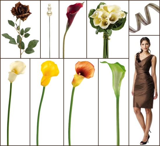 Fall Wedding Flowers Inspiration Board Artificial Calla Lily