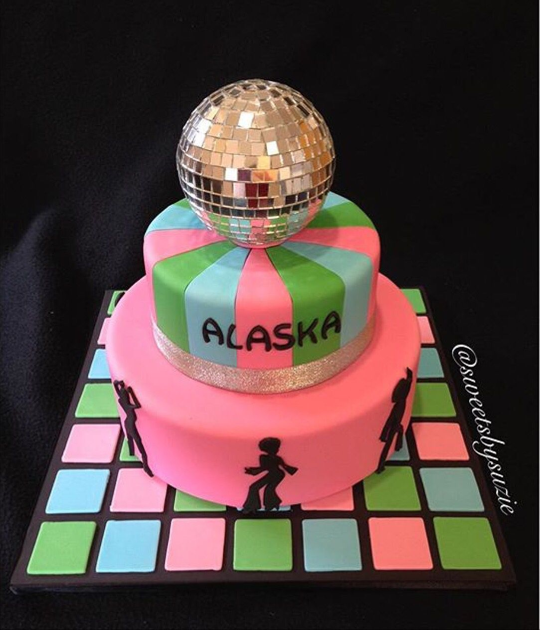 Disco Themed Birthday Cake Made By Sweetsbysuzie In Melbourne