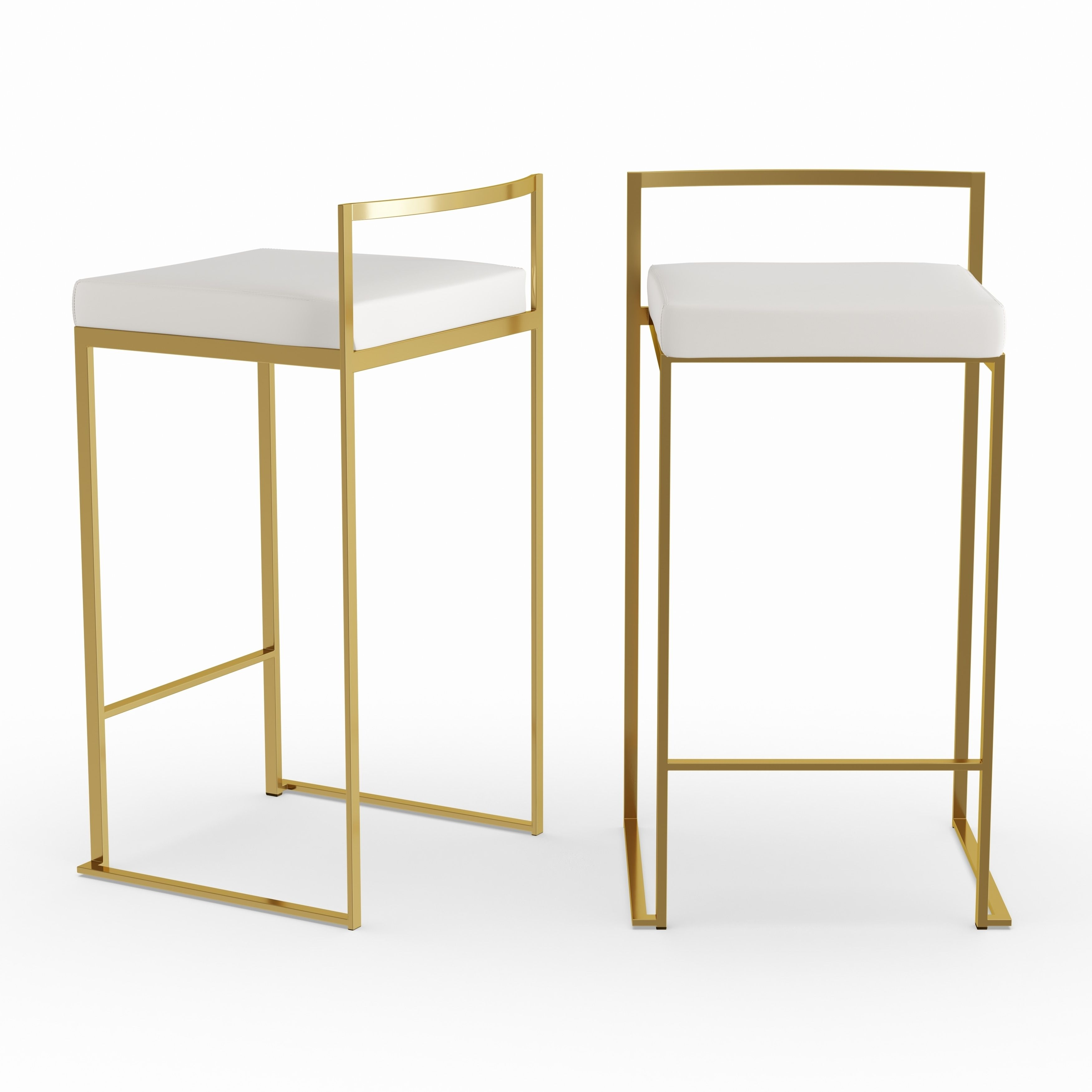 Silver Orchid Forrest Gold Stackable Counter Stool Set Of 2
