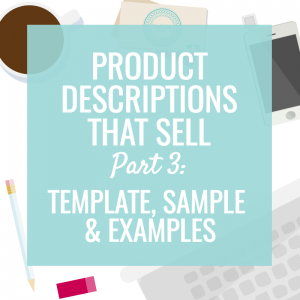 Product Descriptions That Sell Template  Sample  Etsy Shop