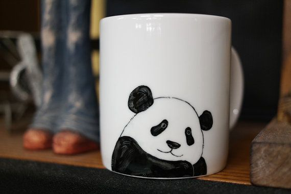 Hand painted animal mug cup - Cute mug cup - Panda Bear mug cup 3 #cutecups