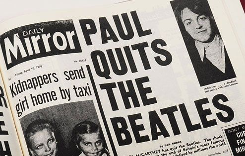 Image result for the beatles disband