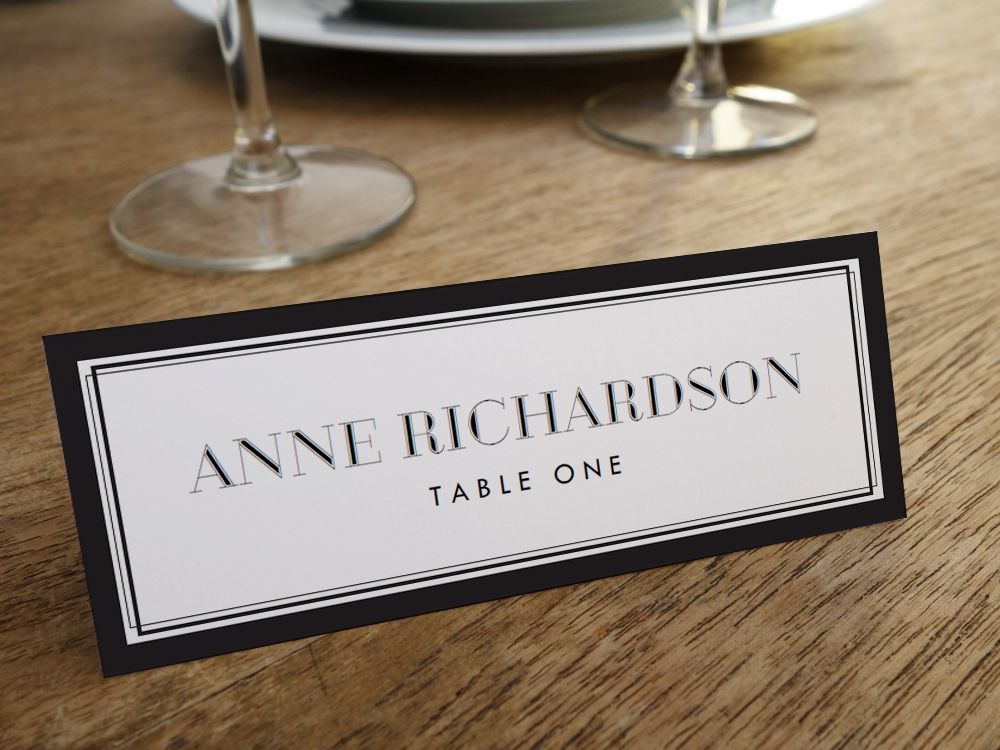 place card holder templates