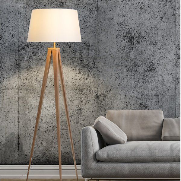 Light Up Your Living Room Or Den And Bring In A Modern Looking Sculptural Touch With This 60 Floor Lamp Floor Lamp Tripod Floor Lamps Brass Floor Lamp #touch #living #room #lamps