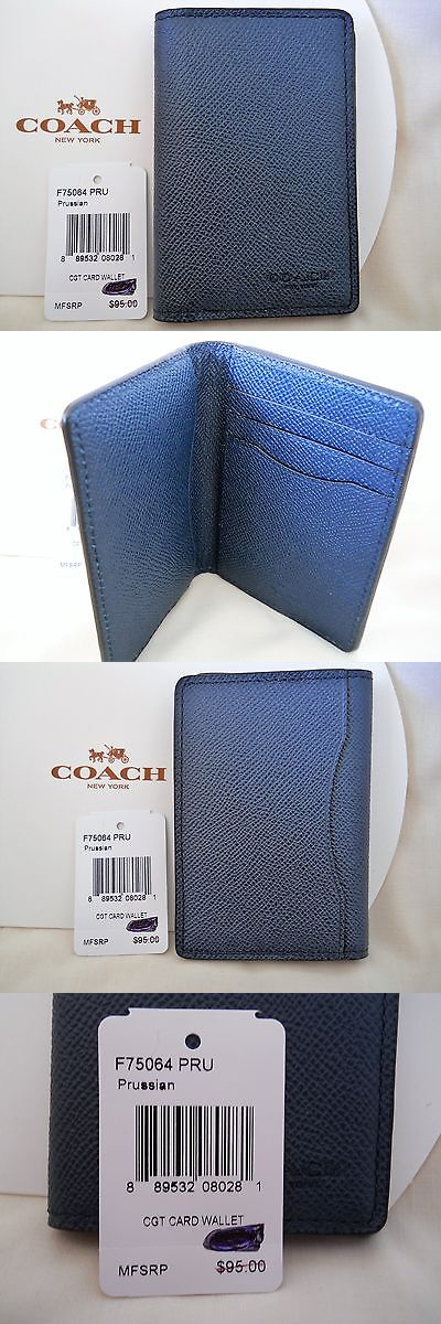 Business and Credit Card Cases 105860: Coach Coated Canvas Card ...
