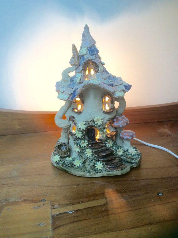 Nursery lamp, electric light, fairy house nursery lamp ...