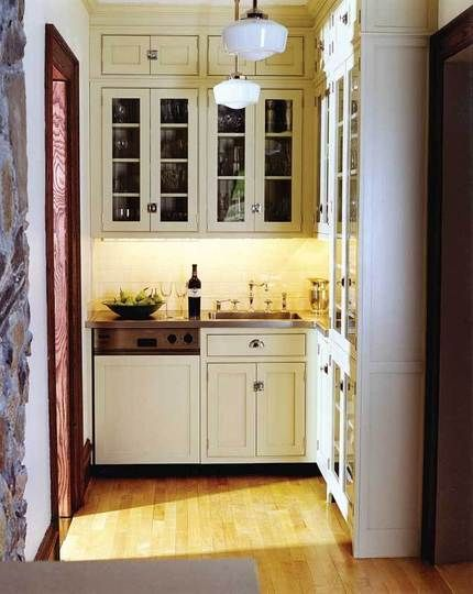 Small Kitchen Idea from wwwshelterness Small space