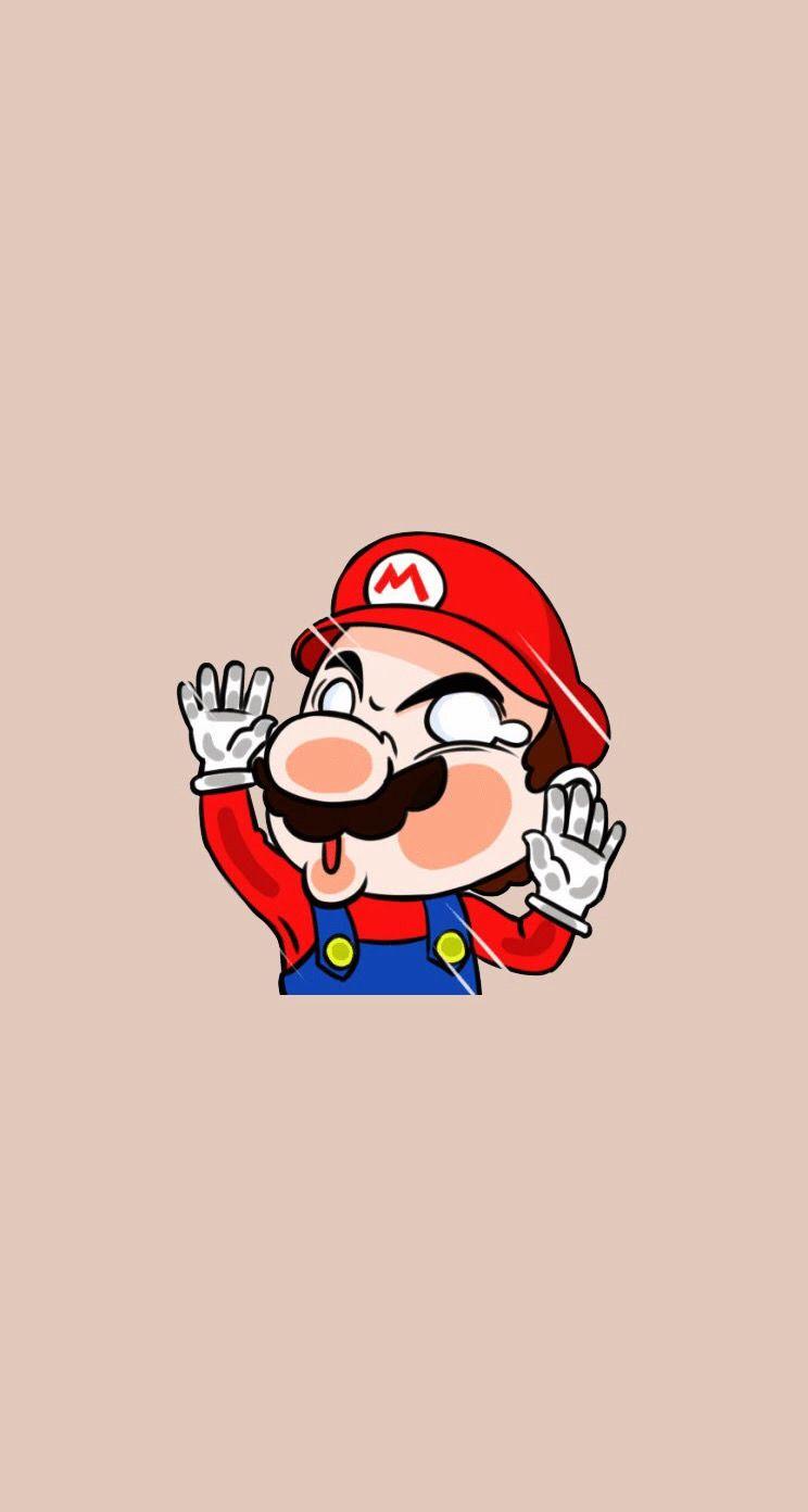 Mario drawing by unknown mario wallpaper lucu super