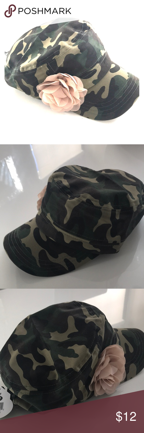 Pugs Gear Shelby Women Camo Army Floral Hat OS New with tags Item may have  shelf wear One size 100% cotton posh1 Accessories Hats 8c1f01245