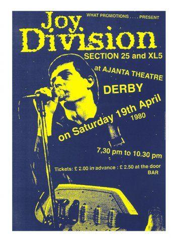 Poster Affiche Joy Division Ian Curtis Punk Rock Photo Londres