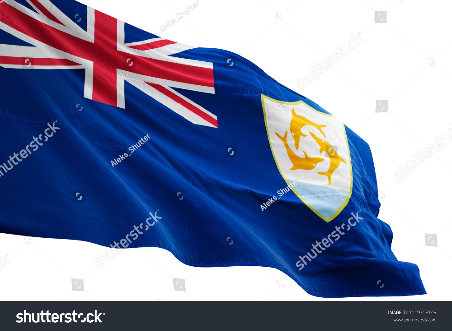Anguilla National Flag Waving In The Blue Sky Realistic 3d Illustration Isolated On White Background Ad Aff Wa In 2020 Baby Wallpaper Boy Wallpaper National Flag