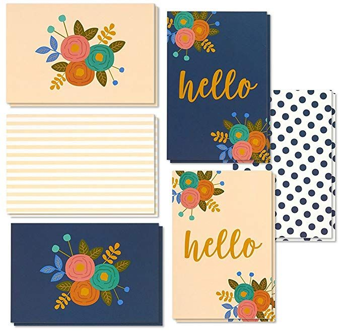 48 Pack All Occasion Assorted Blank On The Inside Hello Note Cards