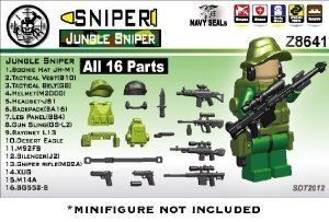 Lego Navy Seal Sniper Lego Minifig Gear Pack Lego Soldiers Lego Army Sniper