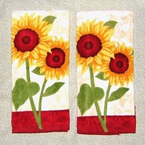 SUNFLOWER Kitchen TOWEL Set By Master Cuisine 2 PC 100% Cotton New | EBay