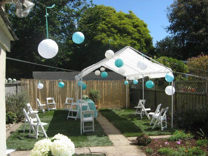 Wedding Reception On A Budget Backyard (With images ...