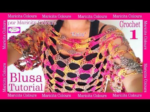 Fotos De La Blusa Katia A Crochet Tutorial Por Maricita Colours Gratis Aquí En You