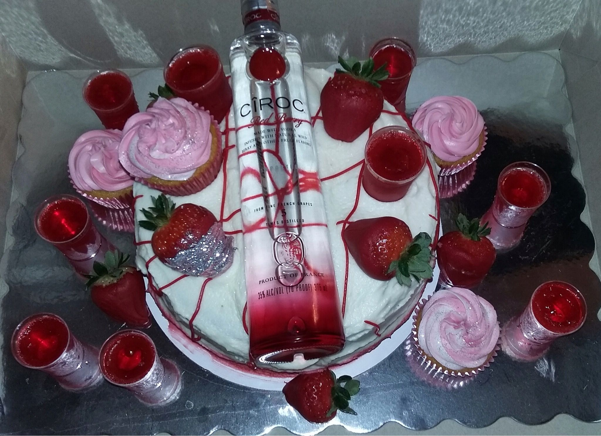 Peachy Ciroc Redberry Cake 21St Birthday Beer Cake Birthday Beer Cake Personalised Birthday Cards Veneteletsinfo