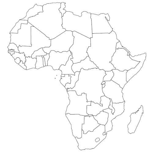 Vysledek Obrazku Pro Slepa Mapa Afriky Omalovanky Obrazky Zemepis