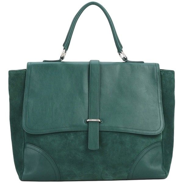 Green Leather Furla Work Bags 3 245 Zar Liked On Polyvore Featuring Handbags