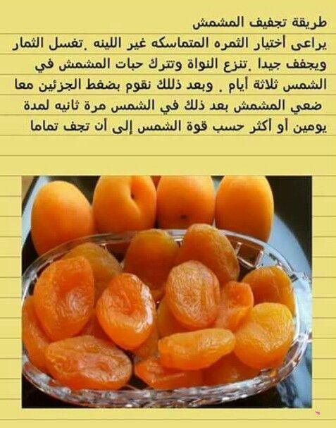 تجفيف المشمش Helthy Food Tunisian Food Cooking Recipes Desserts