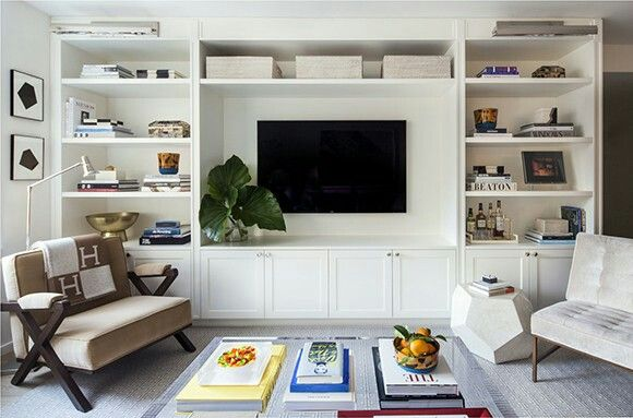 Built Ins Around Tv With Images Living Room Built Ins Living