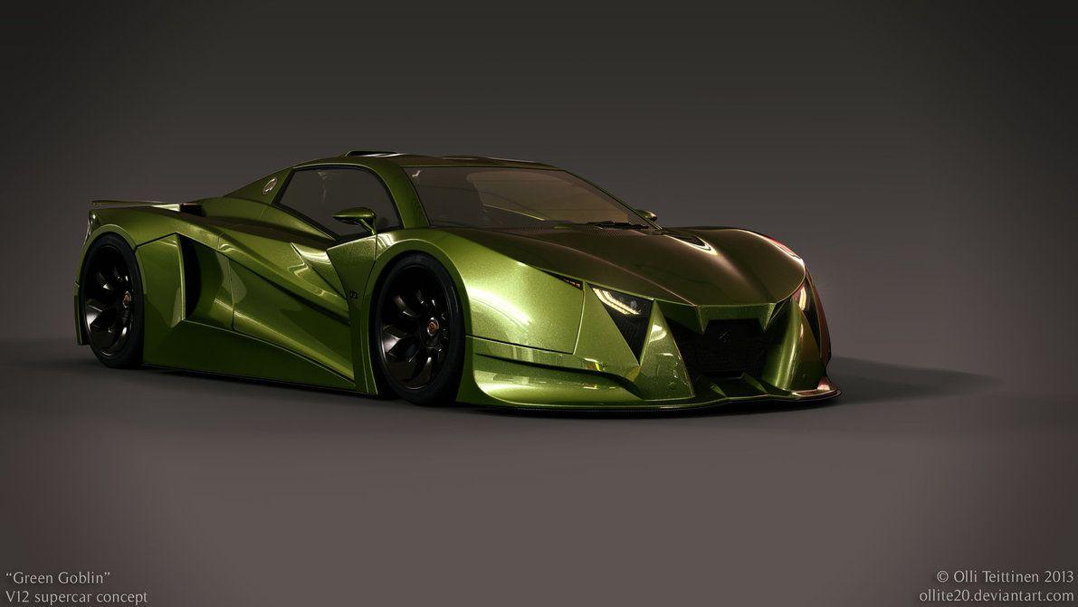 Supercar Concept Green Goblin By On Deviantart