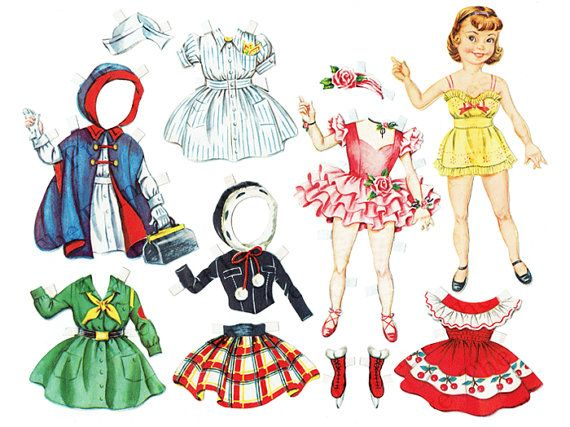 photo about Printable Vintage Paper Dolls known as Immediate Down load Printable Paper Doll Instantaneous Obtain