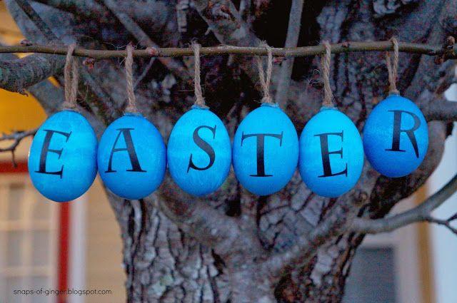 Snaps of Ginger: Pottery Barn Inpired Easter Eggs