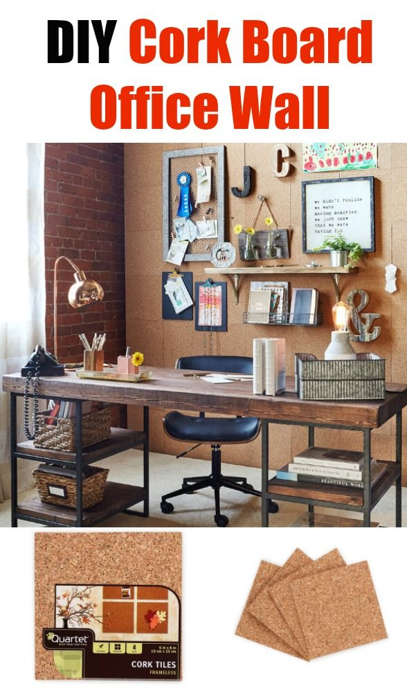 Diy Cork Board Office Wall As Featured At You Simplehomeartdecorideas