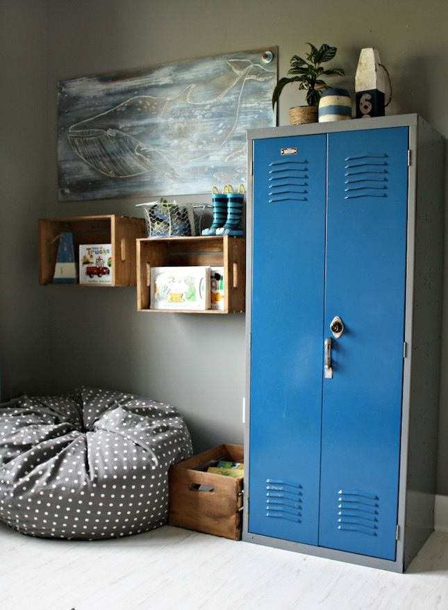 26 Cool And Colorful Ways To Organize Your Kids Room Nautical