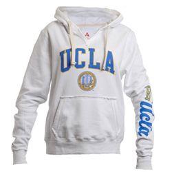 Shop College Wear UCLA Double Arch Mens Crew-Neck Sweatshirt-Charcoal