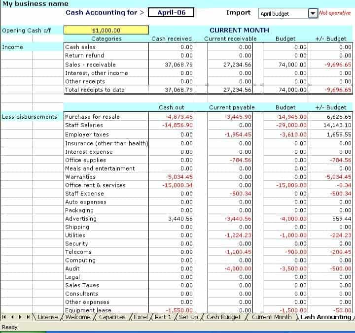 Accounting Spreadsheets For Small Business Free Small Business Accounting Accounting Small Business Accounting Software