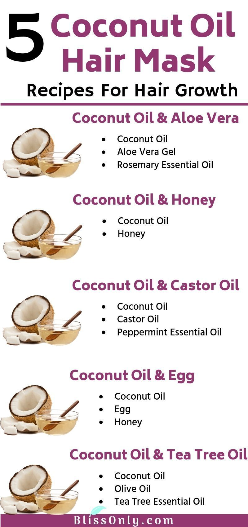 Photo of 5 Best Coconut Oil Hair Mask For Hair Growth – BlissOnly – #…