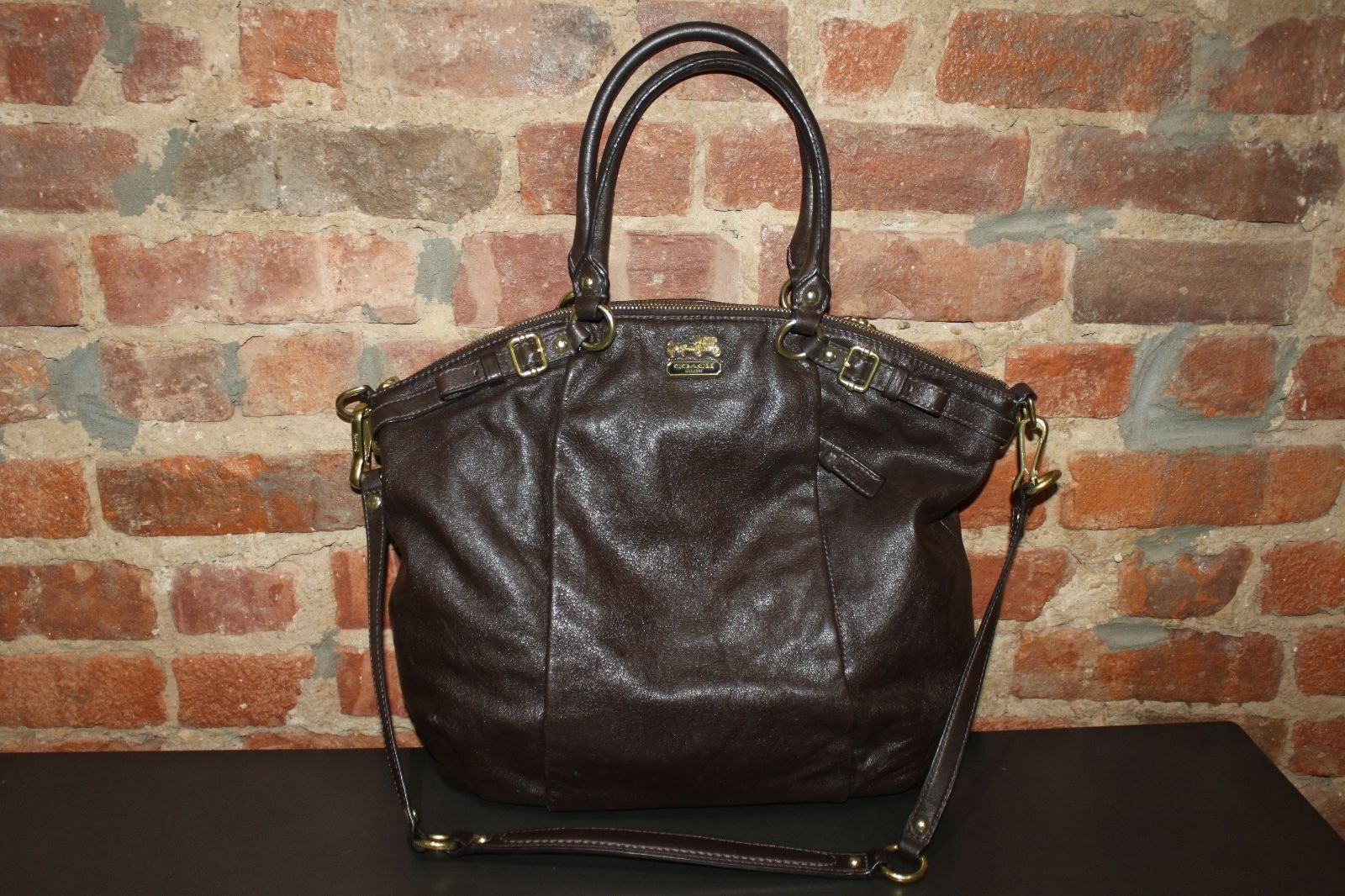 Authentic Coach Madison Lindsey 18641 Brown Leather Satchel Handbag Shoulder Bag https://t.co/ICEXpm9GLH https://t.co/vpESY3AN01