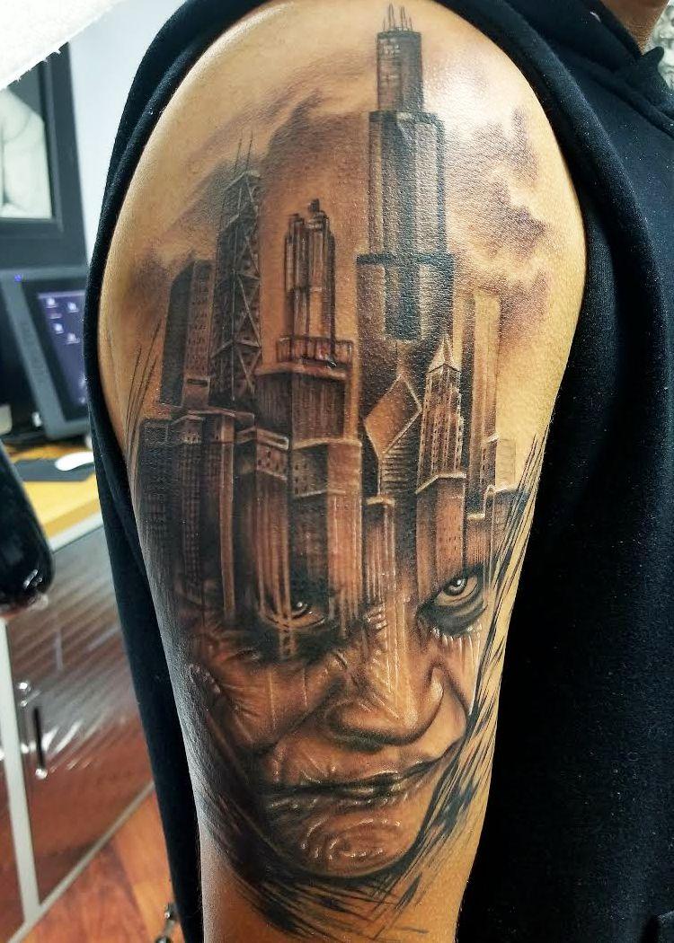 Joker chicago ink tattoo realistic tattoo artists tattoos